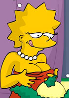 newCute Lisa and Bart Simpsons was trilled by Krusty clown hot