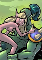 free World of Warcraft Busty Elves fucked by horny Dwarfs image