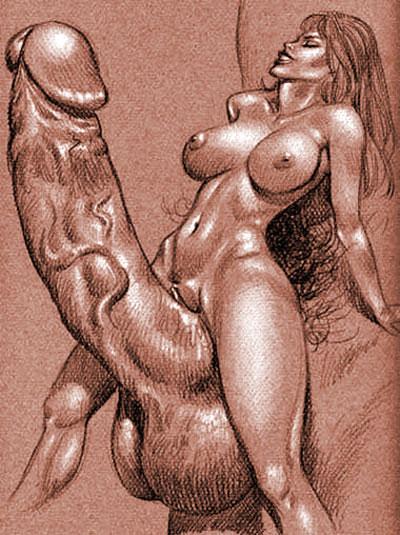 фото нарисованный карандашом член эротика